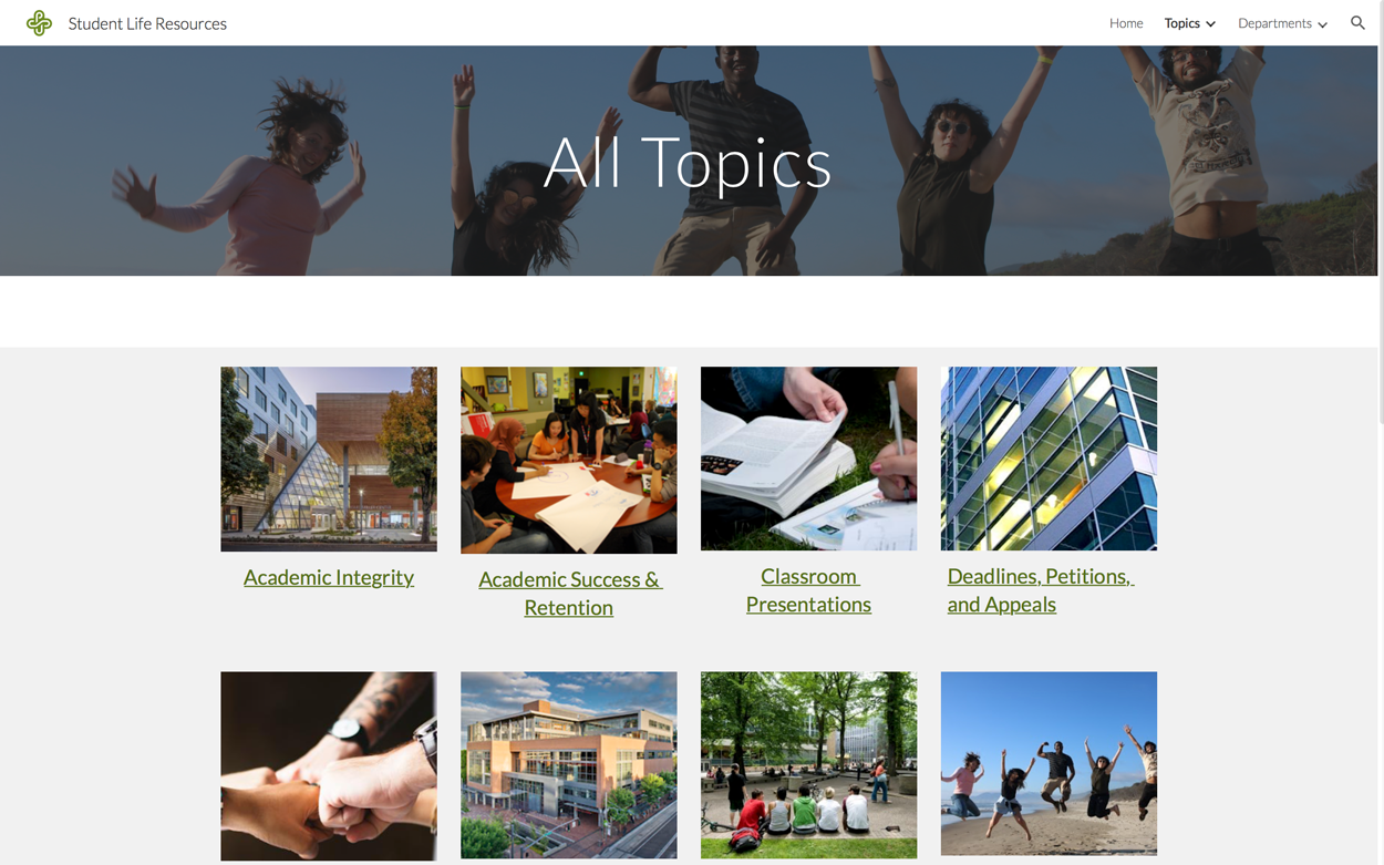 All Topic Page